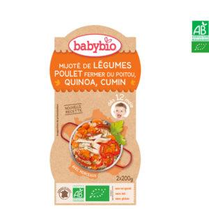 Mijoté de Légumes Poulet Fermier du Poitou et Quinoa 2*200g Babybio