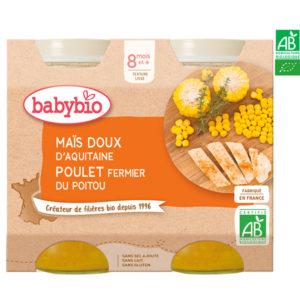Maïs Doux d'Aquitaine Poulet Fermier du Poitou 2*200g BabyBio