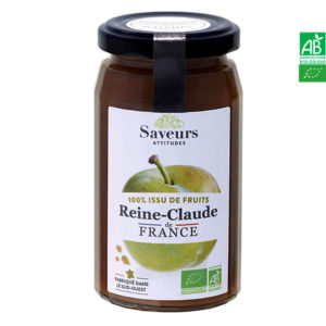 Confiture de Reine-Claude Bio de France 240g Saveurs Attitudes