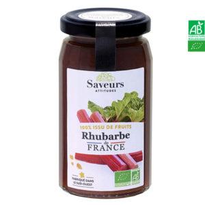 Rhubarbe Bio de France 240g Saveurs et Attitudes