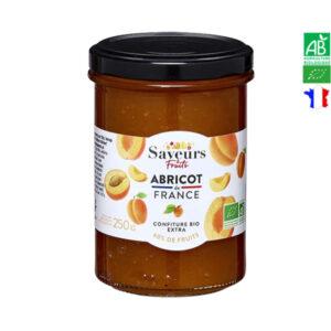 Confiture d'Abricot Bio de France 250gr Saveurs et Fruits