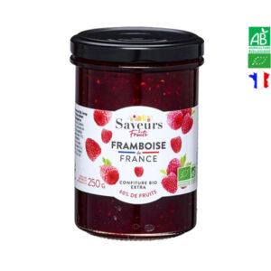 Confiture de Framboise Bio 250gr Saveurs et Fruits