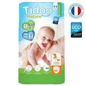 Couche Écologique Taille 3 4 à 9kg 1×56 Tidoo