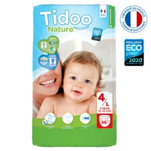 Couche Écologique Taille 4 7 à 18 kg et 1×50 Tidoo