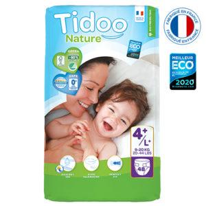 Couche Écologique Taille 4 9 à 20 kg 1×48 Tidoo