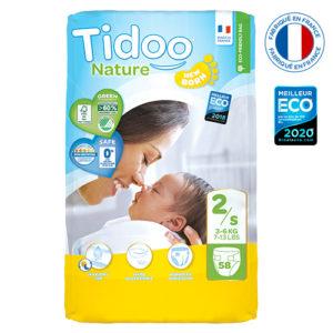 Couche Écologique Taille 2 3 à 6kg 1×58 Tidoo