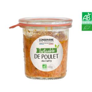 Tartinable de Poulet au Curry 100g Conserverie des Saveurs