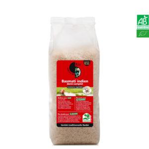 Riz Basmati Demi-Complet 1kg Autour du Riz