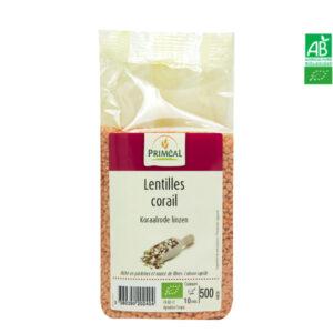 Lentilles Corail Bio 500g Priméal