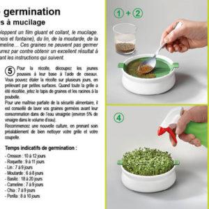 Coupelle de germination pour graines à mucilage Germline