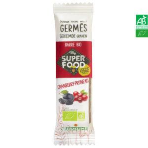 Barre de céréales germées Cranberry-Pruneau 33g Germline