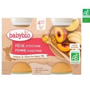 Pêche d'Occitanie Pomme d'Aquitaine 2x130g Babybio