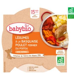 Légumes à la Basquaise Poulet Fermier du Poitou au Paprika 260g Babybio