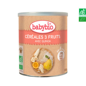 Céréales 3 Fruits Quinoa 220g Babybio