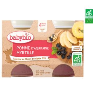 Pomme d'Aquitaine et Myrtille 2x130g Babybio