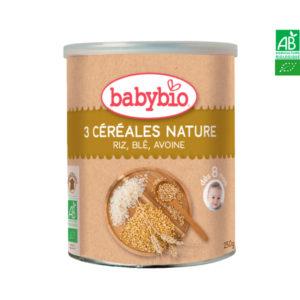 Trois Céréales Nature, Riz, Blé, Avoine 250g Babybio