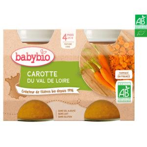 Carottes du Val de Loire 2x130g Babybio