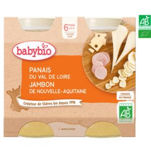Panais du Val de Loire Jambon de Nouvelle Aquitaine 2x200g Babybio
