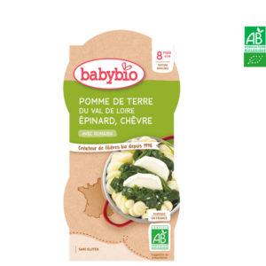 Pomme de Terre du Val de Loire Épinard Chèvre 2x200g Babybio