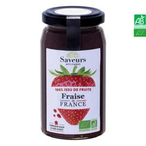 Confiture de Fraises de France Bio 240g Saveurs Attitudes