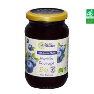 Confiture de Myrtille Sauvage Bio 310g Saveurs et Attitudes