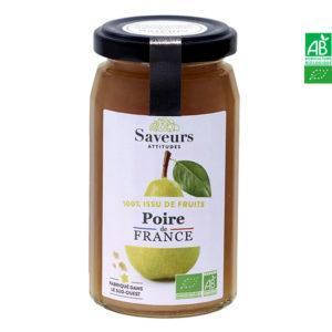 Confiture de Poires Bio de France 240g Saveurs Attitudes