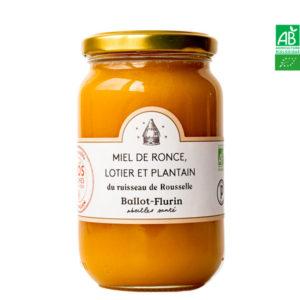 Miel de Ronce, Lotier et plantain du ruisseau de Rouselle 480g Ballot-Flurin