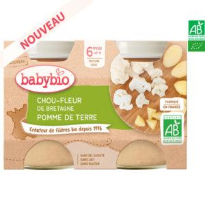 Chou-Fleur de Bretagne Pomme de Terre 2*130gr Babybio