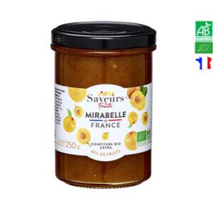 Confiture de Mirabelle Bio de France 250gr Saveurs et Fruits