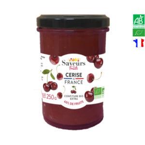 Confiture de Cerise Bio 250g Saveurs et Fruits