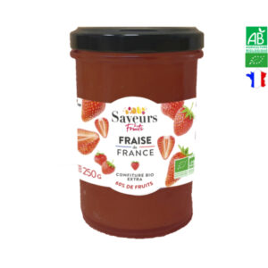 Confiture de Fraises de France Bio 250g Saveurs et Fruits