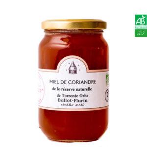 Miel de Coriandre de la réserve naturelle Torrente . Orba 480g Ballot-Flurin