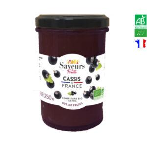 Confiture de Cassis Bio de France 250g Saveurs et Fruits