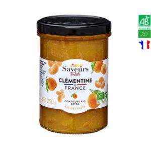 Confiture de Clémentine Bio de France 250gr Saveurs et Fruits