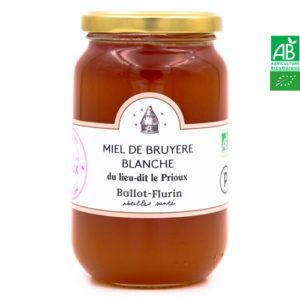 Miel de Bruyère Blanche du lieu-dit le Prioux 480g Ballot-Flurin