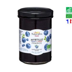 Confiture de Myrtille Bio 250g Saveurs et Fruits