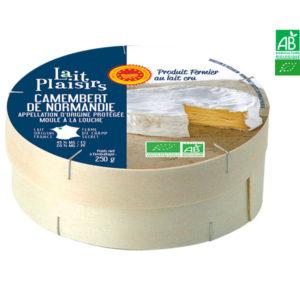 Camembert de Normandie Fermier Bio 250g  AOP Lait Plaisirs
