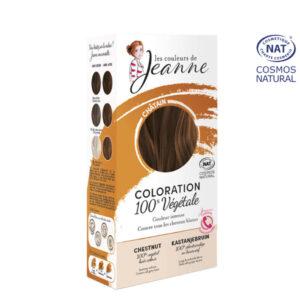 Coloration 100% Bio & Végétale Châtain Les Couleurs de Jeanne