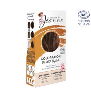 Coloration 100% Bio & Végétale Châtain Foncé Les Couleurs de Jeanne