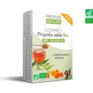 Gommes Propolis Verte Bio aux 3 saveurs 45gr Propos Nature