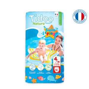 Couche de Piscine Écologique Taille 4 8-15kg 1×12 Tidoo