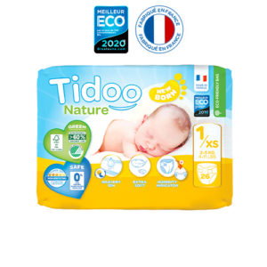 Couche Écologique Taille 1 2 à 5 kg 1×26 Tidoo