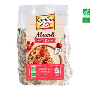 Muesli Fruits Rouges 500gr Grillon d'Or