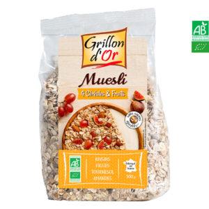 Muesli 4 Céréales et Fruits 500gr Grillon d'Or