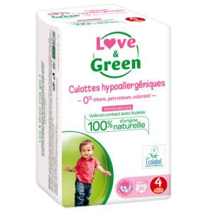 Culotte Hypoallergénique d'Apprentissage Taille 4 7 à 14kg 1×20 Love&Green