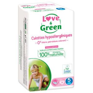Culotte Hypoallergénique d'Apprentissage Taille 5 12 à 18kg 1×18 Love&Green