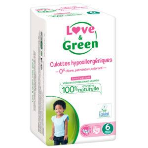 Culotte Hypoallergénique d'Apprentissage Taille 6 16kg et + 1×16 Love&Green