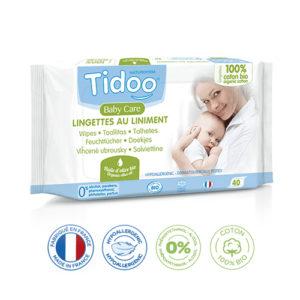 Lingettes Bébé Écologiques Au Liniment et Huile d'Olive Compostables 1×40 Tidoo