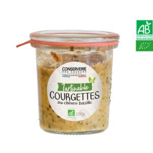 Délice de Courgette Chèvre et Basilic 100g Conserverie des Saveurs