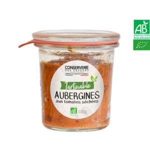 Caviar d'Aubergines aux Tomates Séchées 100g Conserverie des Saveurs
